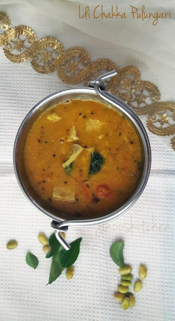 Idi Chakka Pulungari ~ Tender Jackfruit Coconut Curry