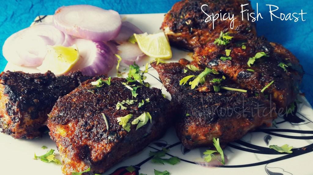 Spicy Fish Roast ~ Meen Varuval recipe