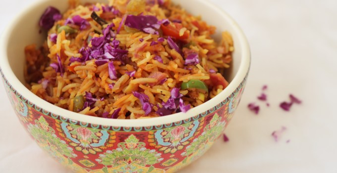 Red Cabbage Fried Rice recipe | Cabbage rice recipe