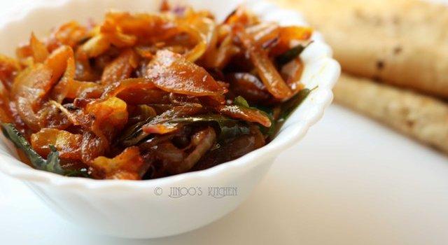 Fried onion masala recipe   onion masala for chapathi   simple masala Onion fry