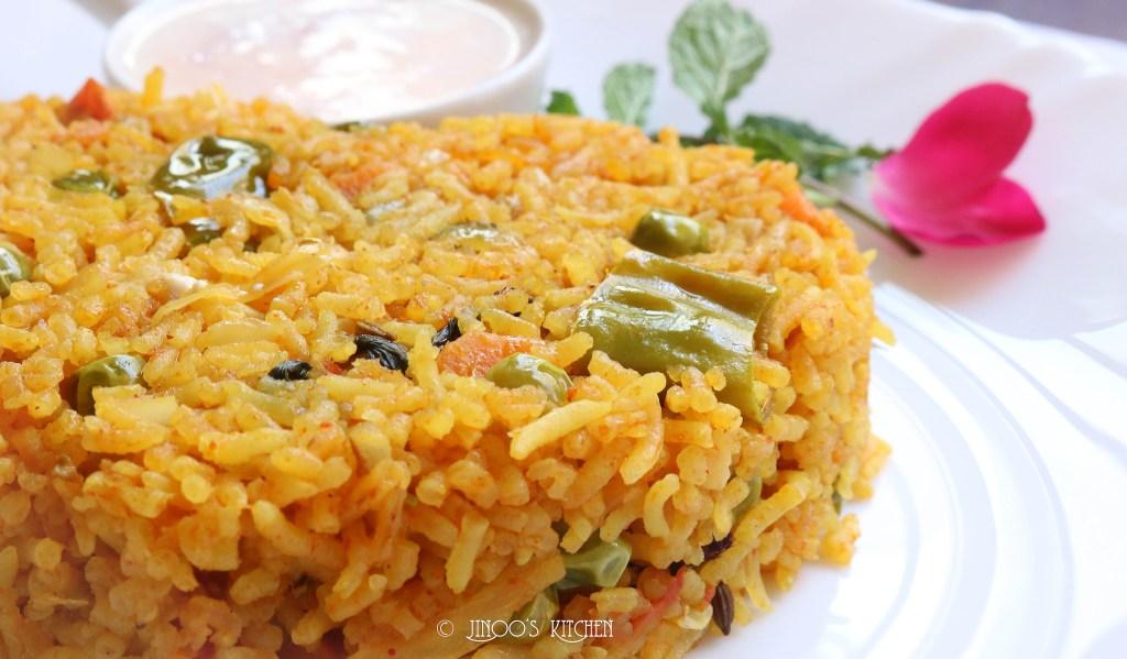 Brinji rice recipe | Vegetable Brinji rice recipe | how to make veg biryani south Indian style