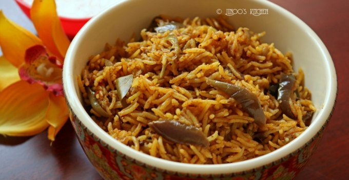 Vangi bath recipe | Brinjal rice recipe| Karnataka style vangi bhath recipe