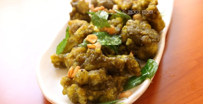 Green cauliflower 65 recipe | Mint cauliflower fry recipe