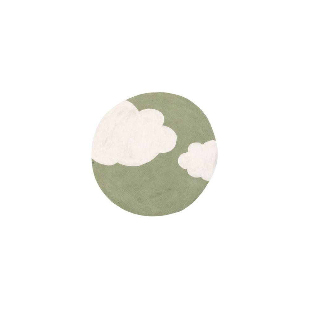 tapis rond cloudy vert