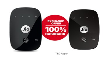 jiofi wifi router exchage offer