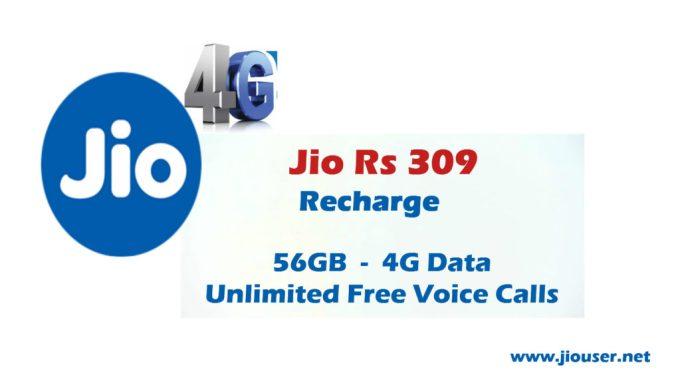 Jio 309 Recharge plan deatails