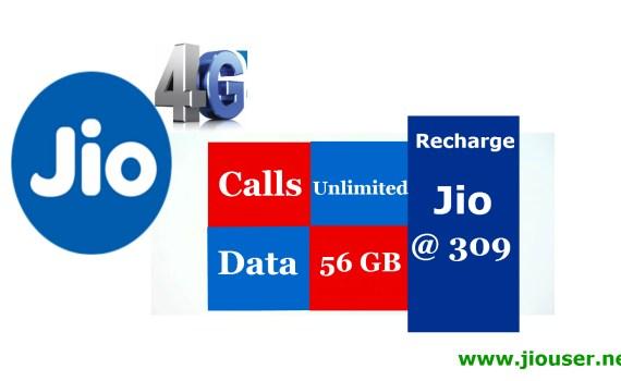 Jio 309 recharge online plan details