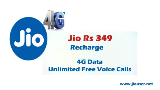 Jio 349 Recharge plan deatails