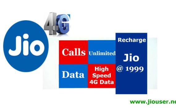Jio 1999 Recharge Online Plan Details