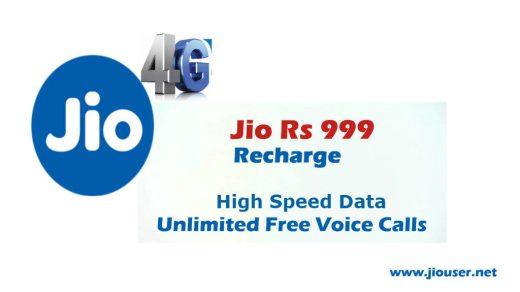 jio 999 recharge online plan details