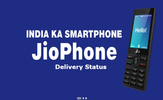 Jio phone Delivery Status