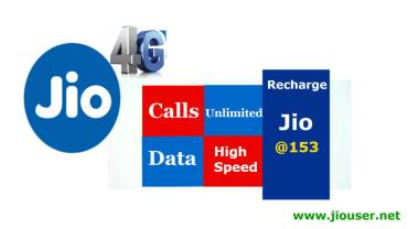 Jio 153 recharge plan offer