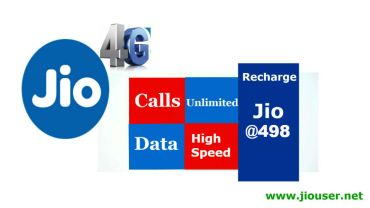 Jio Recharge Plan 498 Offer