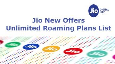 Unlimited Jio International Roaming Recharge Plans