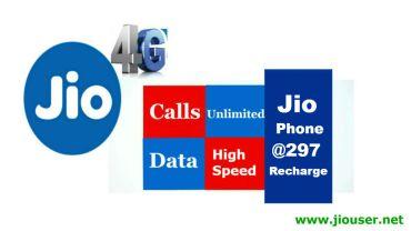 Jio Phone 297 Recharge Plan
