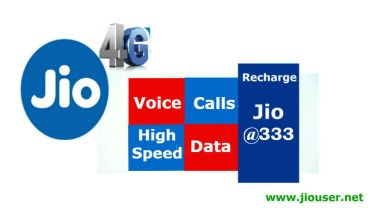 Jio Recharge Rs. 333