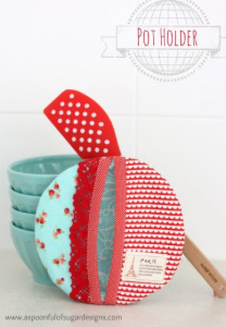 Tutorial How to make a potholder A Spoonful of Sugar