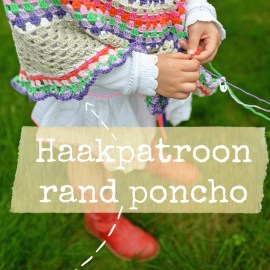 Haakpatroon poncho rand Jip by Jan