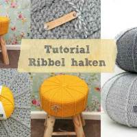 Tutorial krukhoesje of poef met ribbel haken