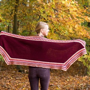 Haakpatroon Omslagsjaal Landleven (NL) / Crochet pattern Country Living Shawl (US/UK)