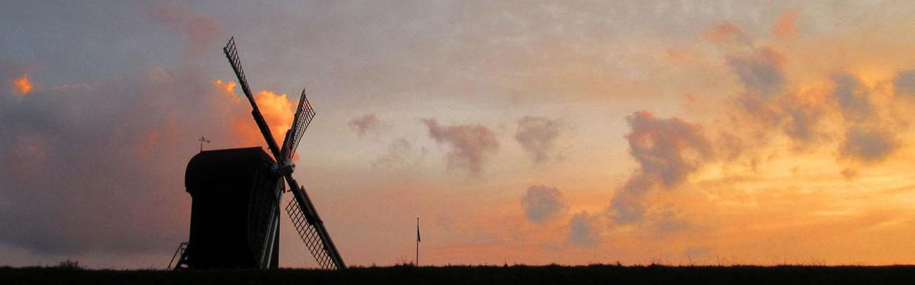 Een foto van de molen in Bourtange.