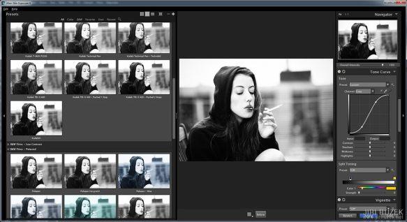 Exposure nabízí simulace černobílých i barevných filmů