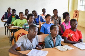 Students in Jitegemee's New Class Room
