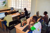Students in Jitegemee's New Computer Room