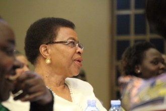 Graca Machel delivered the opening keynote address for the meeting and got partners fired up to continue the work they're doing.