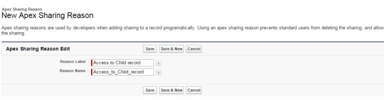 Salesforce Apex Sharing Reason