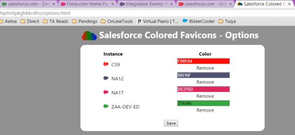 Salesforce Colored Favicon - Google Chrome extension