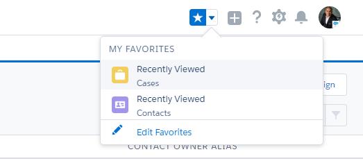 Salesforce bookmark favorite URL