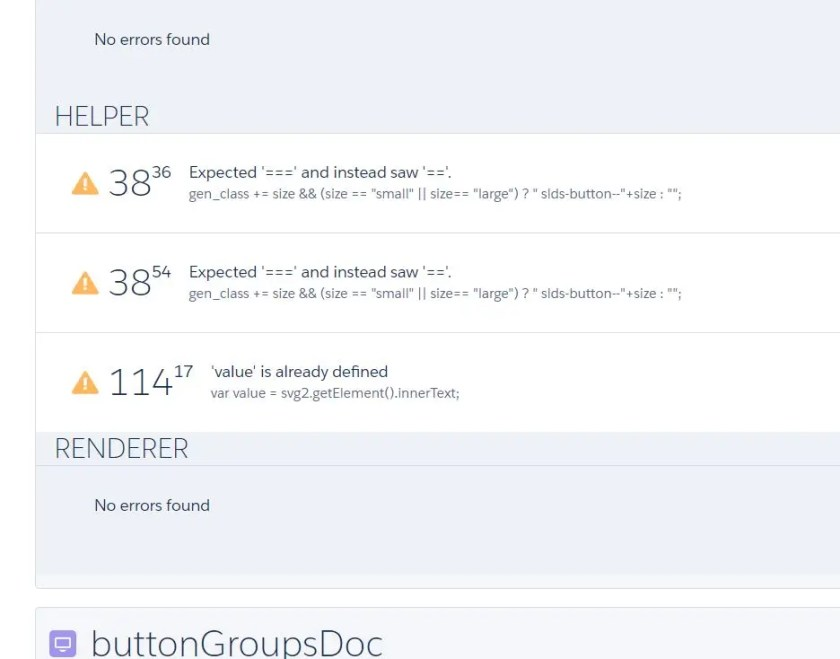 Salesforce Lightning Component - Code review - Javascript lint
