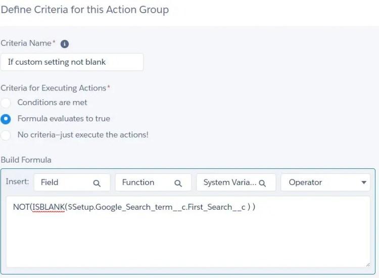 Hierarchy custom setting in Process builder criteria
