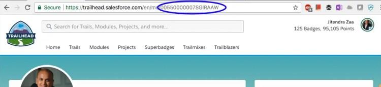 Salesforce Trailhead Profile URL