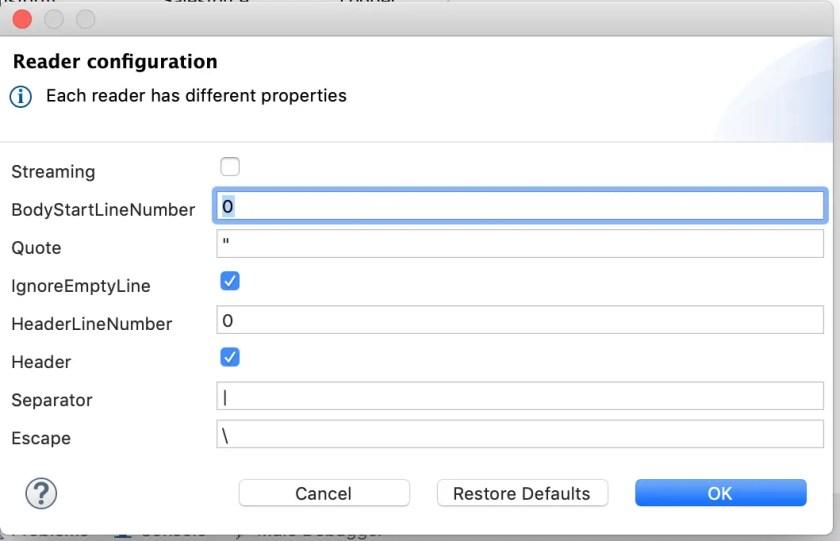 Mulesoft 3 - Transform Message Reader Configuration