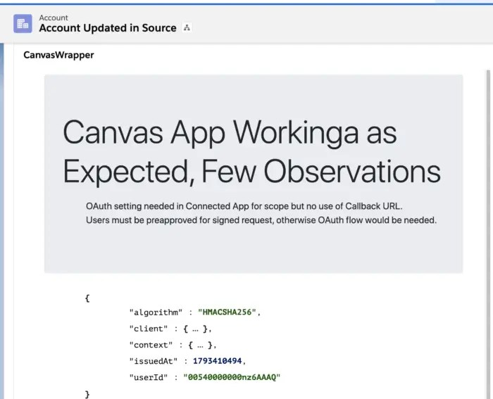 Salesforce Canvas Integration