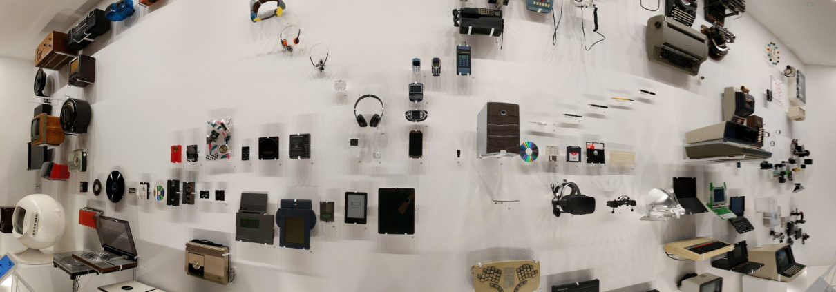 Tech wall at the design museum