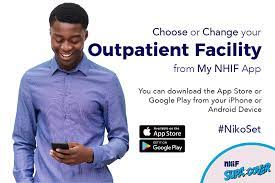 Change outpatient hospital using NHIF app