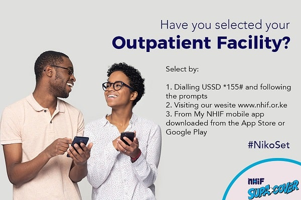 How to choose or change NHIF outpatient facility using phone, online or mobile app