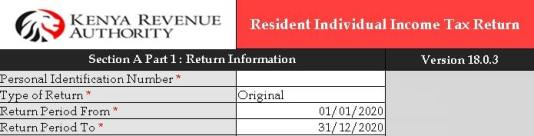 KRA basic information form