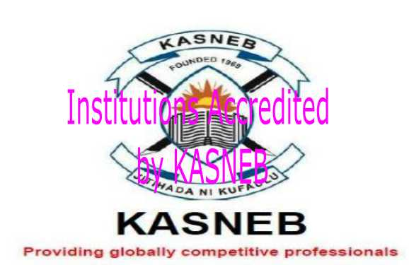 Institutions accredited by KASNEB