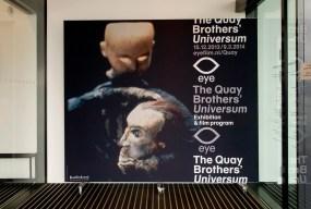The Quay Brothers' Universum, Ausstellungsplakat im Eingangsbereich des EYE
