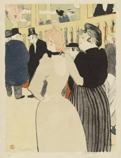 Henri de Toulouse-Lautrec (1864 -1901) Im Moulin Rouge, die Goulue und ihre Schwester, 1892 Farblithographie, 49 x 38 cm Hamburger Kunsthalle, Kupferstichkabinett © Hamburger Kunsthalle/bpk Photo: Christoph Irrgang
