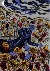 Die Falle von Robert Gernhardt / 1966 Gouache, Acryl, digital Die satirische Weihnachtsgeschichte von Robert Gernhardt, gestaltet als Weihnachtskalenderbuch mit japanischer Bindung.