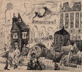 Lyonel Feininger, Auf der Stadtmauer, 1911. Albertina, Wien © Bildrecht, Wien, 2015