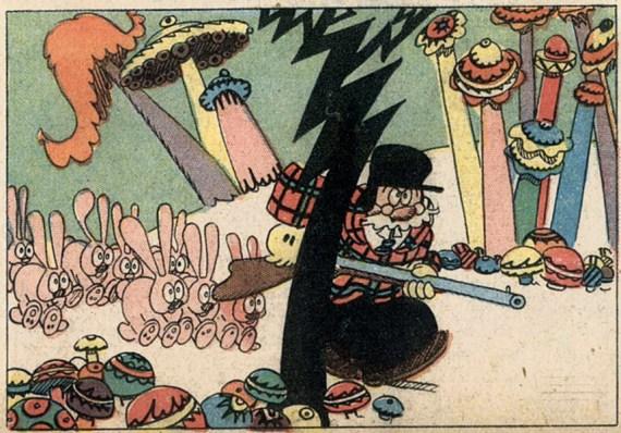 Cliff Sterrett, Polly and Her Pals, Detail, 6. März 1927, Privatsammlung
