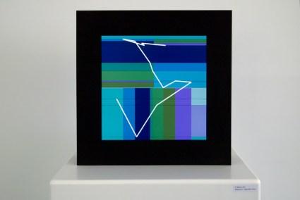 Manfred Mohr – Vom Rhythmus zum Algorithmus, P1622-A LCD, 2012