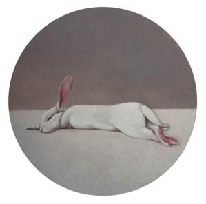 Shao Fan, Hare on the Moon, 2010 Öl auf Leinwand, Ø 210 cm © Shao Fan and Galerie Urs Meile, Beijing-Luzern 2018
