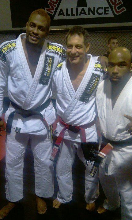 Professor Hall, Jacare and Marcus Hicks--Photo courtesy of Stephen Hall